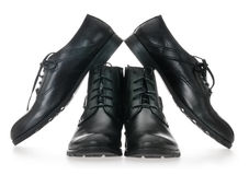 Black Men's leather shoes Royalty Free Stock Photography