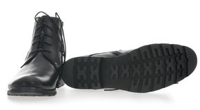 Black Men's leather shoes Royalty Free Stock Images