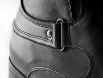 Black Men's leather shoes Stock Photos