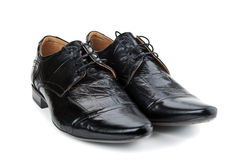 Black men's shoes Stock Images