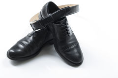 Black men's shoes Royalty Free Stock Photography