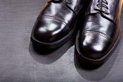 Black men's shoes Stock Photos