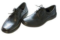 Black men's shoes Royalty Free Stock Image