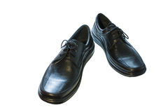 Black men's shoes Royalty Free Stock Images