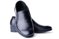 Black men's shoes Stock Photos