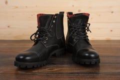 Black men's shoes Stock Images