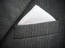 Black Men's Suit Chest Pocket Royalty Free Stock Image