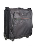 Black men's suitcase Stock Photo