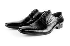 Black men shoes. Isolated on white background Stock Images