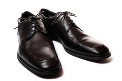 Black men shoes isolated on white Royalty Free Stock Photography