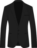 Black men suit stock illustration