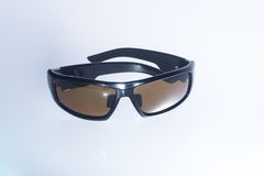 Black men sunglasses on isolated white background Stock Photography