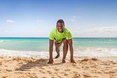 Black men training Royalty Free Stock Image