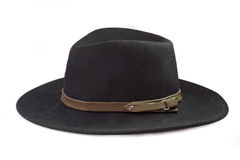 A black Mens Hat Royalty Free Stock Photo