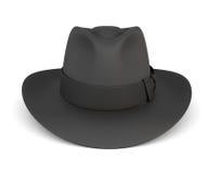 Black mens hat  on white background. Royalty Free Stock Photo