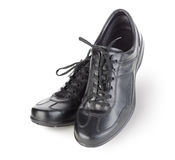 Black mens shoes. On white background Royalty Free Stock Images