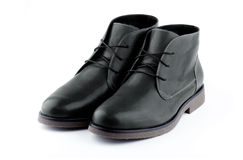 Black mens shoes Stock Photography