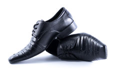 Black Mens shoes on white background Royalty Free Stock Image