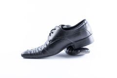 Black Mens shoes on white background Stock Photo