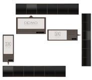 Black Menu Bar and Detail box Stock Photo