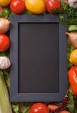 Black menu blackboard Stock Photography