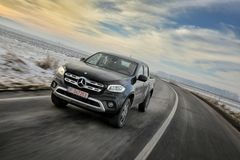 Black Mercedes-Benz X Class royalty free stock image