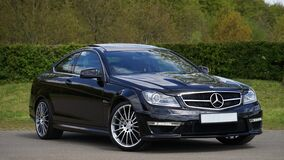 Black Mercedes Benz Coupe Royalty Free Stock Photos