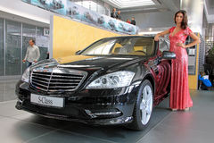 Black Mercedes-Benz S-class Royalty Free Stock Image