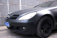 Black Mercedes Benz SL63 AMG Royalty Free Stock Photos