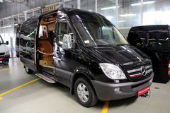 Black Mercedes-Benz Sprinter 324 Royalty Free Stock Image