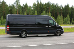 Black Mercedes-Benz Van at Speed Royalty Free Stock Photography