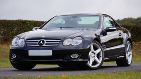 Black Mercedes Benz Vehicle Stock Images