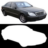 Black Mercedes sedan Royalty Free Stock Images