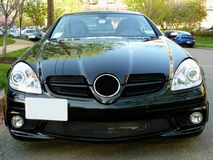 Black Mercedes Sports Car Stock Image
