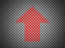 Black mesh background with red arrow Royalty Free Stock Images