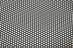 Black Mesh. Black metal mesh on a white background Stock Photography