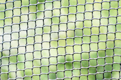 Black mesh netting on green background Stock Images