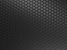 Black metal background. With round dots stock illustration
