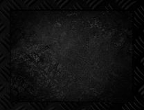 Black Metal background or frame. Of brushed steel plate Stock Photo