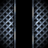 Black metal technology abstract background Stock Image