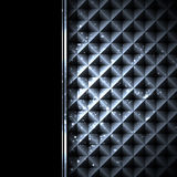 Black metal technology abstract background Stock Photos