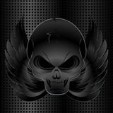 Black metal background and skull Stock Images