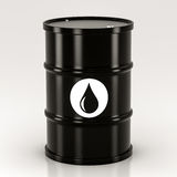 Black metal barrels Stock Image