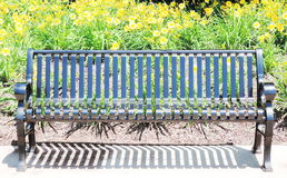 Black metal bench Stock Photography