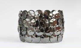 Black metal bracelet design Stock Images