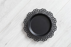 Black metal dish Royalty Free Stock Photos