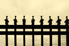 Black metal fence Royalty Free Stock Photos
