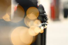 Black Metal Fence Bokeh Photography stock photo