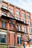 Black Metal Fire Escape Royalty Free Stock Image