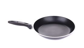 Black metal frying pan. Royalty Free Stock Photos